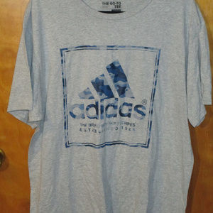 Adidas Camo Graphic Gray Shirt XL